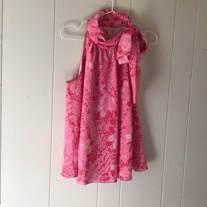 LILY PULITZER silk blend sleeveless blouse small